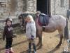 Příprava před výukou jízdy na koni